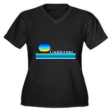 Gunnar Women's Plus Size V-Neck Dark T-Shirt