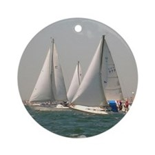 Sailing with Sailboats Christmas Tree Ornament