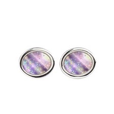 Burst of Pain and Bubbles of Hope Oval Cufflinks