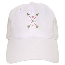 Personalized Pink Heart And Arrows Baseball Cap