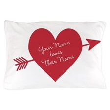Personalized Valentine Heart Pillow Case