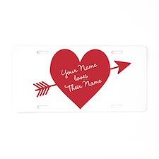 Personalized Valentine Hear Aluminum License Plate