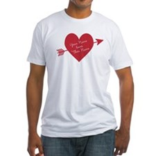 Personalized Valentine Heart With Arrow T-Shirt