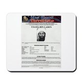 Bin Laden Wanted Poster Mousepad