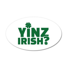 Yinz irish 35x21 Oval Wall Decal