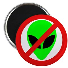 "No More Aliens 2.25"" Magnet (100 pack)"