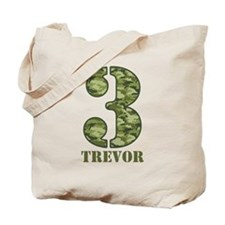Green Camo 3rd Birthday Tote Bag