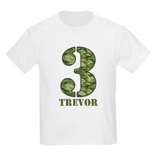 Green Camo 3rd Birthday T-Shirt
