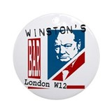 British Churchill Bar Ornament (Round)