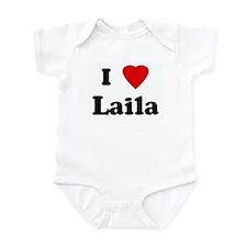 I Love Laila Infant Bodysuit