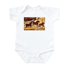 LASCAUX HORSES Infant Bodysuit