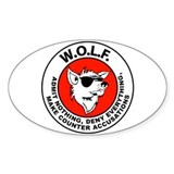 W.O.L.F. Oval Decal