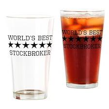 Worlds Best Stockbroker Drinking Glass