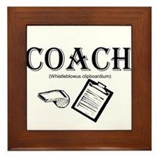 Coach Framed Tile