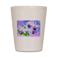 Dazzlin' Hummers, Cattleya Orchids Shot Glass