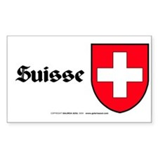 Switzerland: Heraldic Sticker (Rect.) (French)