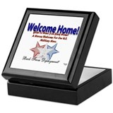 Welcome Home.. in Red, White, Keepsake Box