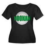NOONAN Women's Plus Size Scoop Neck Dark T-Shirt