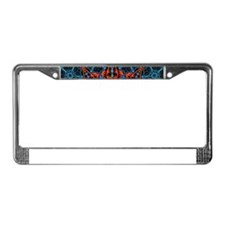 Colorful Retro Floral Lace Geo License Plate Frame