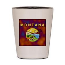 Montana State Flag Shot Glass