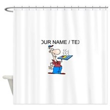 Pizza Delivery Guy (Custom) Shower Curtain