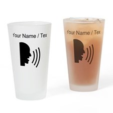 Custom Speaking Drinking Glass
