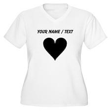 Custom Heart Plus Size T-Shirt