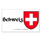 Switzerland: Heraldic Sticker (Rect.) (German)