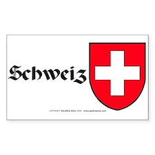 Switzerland: Heraldic Sticker (Rect.) (German)