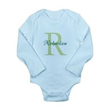 CUSTOM Initial and Nam Long Sleeve Infant Bodysuit