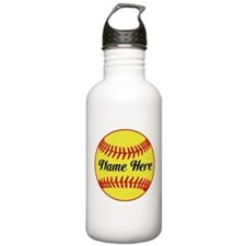 Personalized Softball Water Bottle