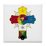 Hermetic Rose Cross - Tile Coaster