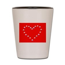 Red Jojo's Heart Valentine 581 Shot Glass