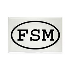 FSM Oval Rectangle Magnet