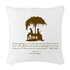 Mr Darcys Love Woven Throw Pillow