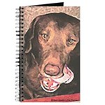 TASTY Chocolate Lab dog gift Journal