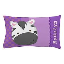 Personalized Zebra Kids Pillow Case