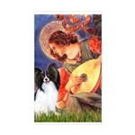 Mandolin Angel & Papillon Sticker (Rectangle)