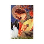 Mandolin Angel & Papillon Rectangle Magnet (10 pac