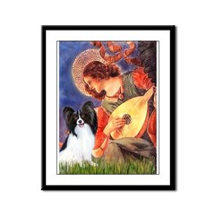 Mandolin Angel & Papillon Framed Panel Print