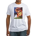 Mandolin Angel & Papillon Fitted T-Shirt