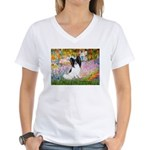 Garden & Papillon Women's V-Neck T-Shirt