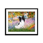 Garden & Papillon Framed Panel Print