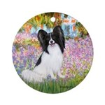 Garden & Papillon Ornament (Round)