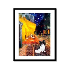 Cafe & Papillon Framed Panel Print