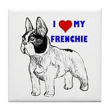 Unique French bulldog terrier Tile Coaster