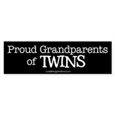 Grandparents of twins - Bumper Bumper Stickers