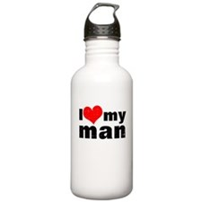 I love my man Water Bottle