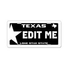 Custom Black Texas Aluminum License Plate