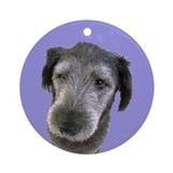 GRAY DOG Ornament (Round)